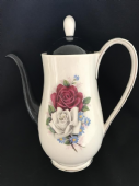 Queen Anne retro Coffee pot black /roses